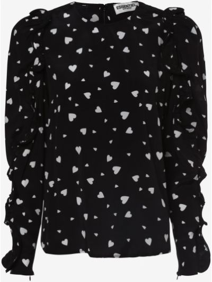 Czarna bluzka z wiskozy Essentiel Antwerp