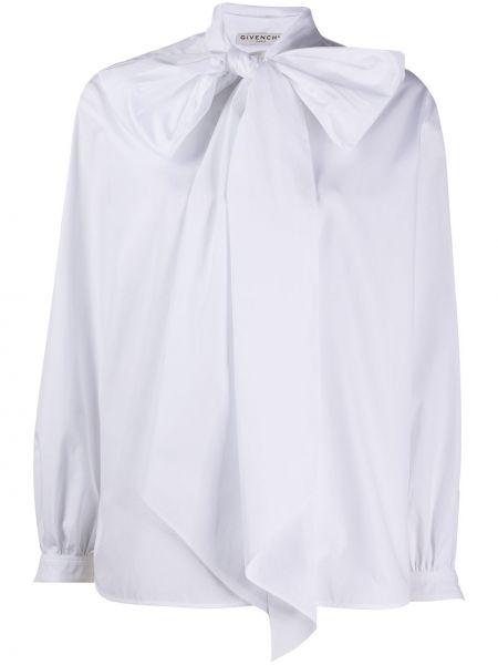 Bluzka z długim rękawem przeoczenie biała Givenchy