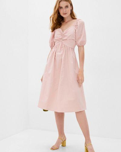 Розовое прямое платье B.style