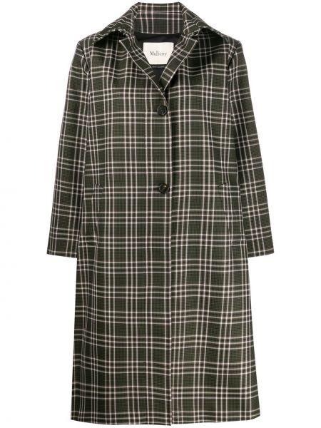 Длинное пальто с капюшоном на пуговицах Mulberry