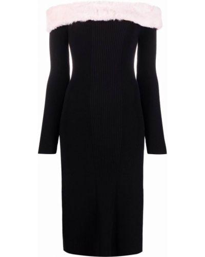 Платье макси длинное - черное Blumarine