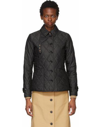 Черная длинная куртка Burberry