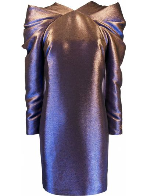 С рукавами синее платье макси трапеция Karl Lagerfeld
