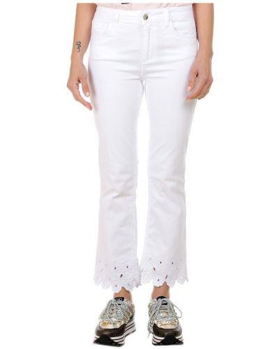 Białe spodnie eleganckie Liu Jo
