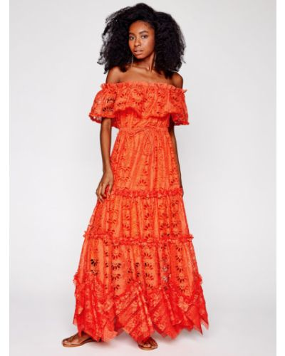 Pomarańczowa sukienka na lato Ixiah