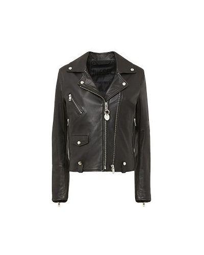Черная кожаная куртка Diesel