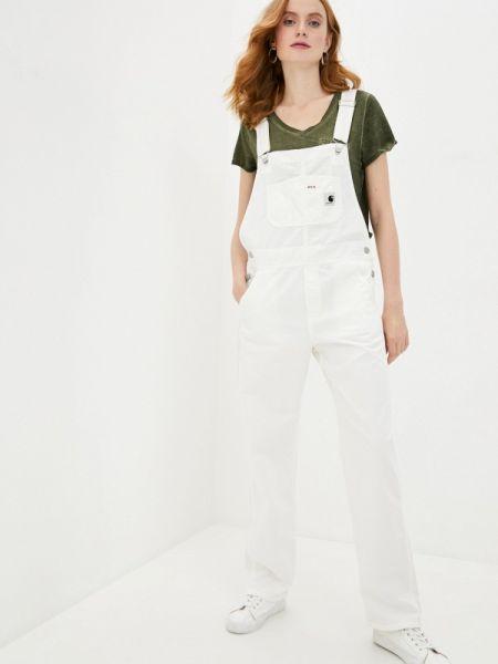 Белый джинсовый комбинезон Carhartt