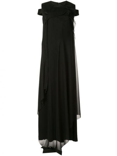 Асимметричное платье мини из фатина на молнии с вырезом Yang Li