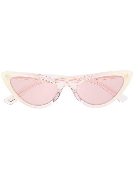 Прямые муслиновые розовые солнцезащитные очки Diesel