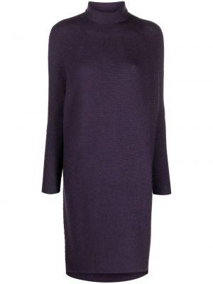 Фиолетовое шерстяное платье макси Christian Wijnants