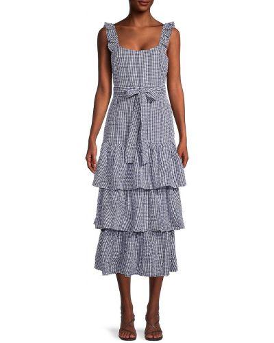 Хлопковое платье миди - белое Likely