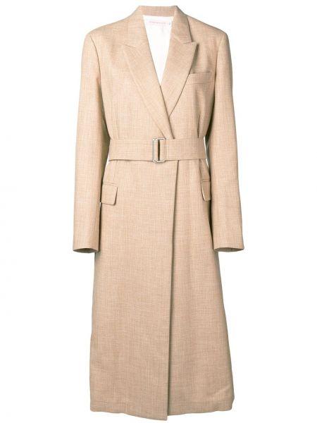 Płaszcz z kieszeniami włosy wielbłąda Victoria Beckham