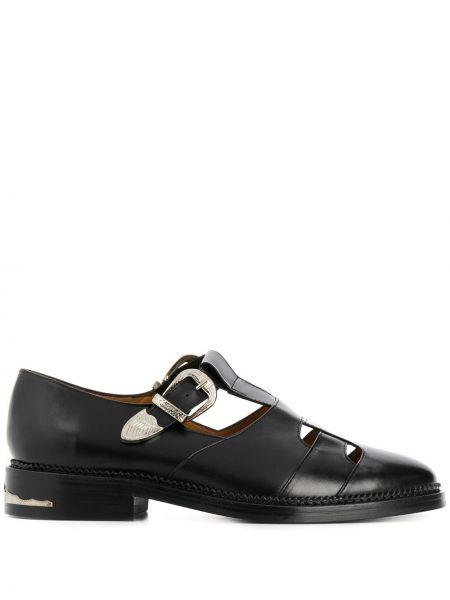 Кожаные черные монки на каблуке Toga Virilis
