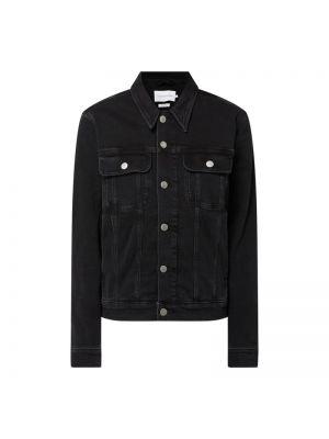 Czarna kurtka jeansowa bawełniana Calvin Klein Jeans