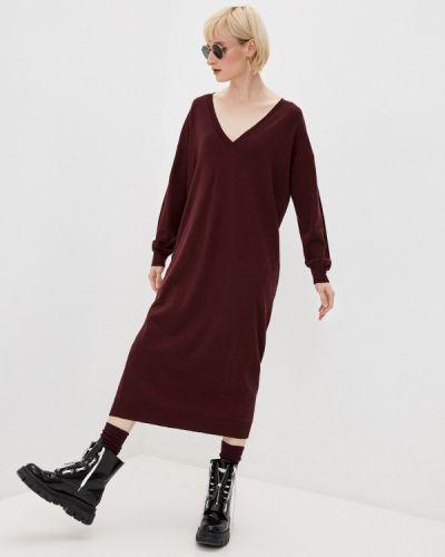 Вязаное трикотажное красное платье Dsquared2