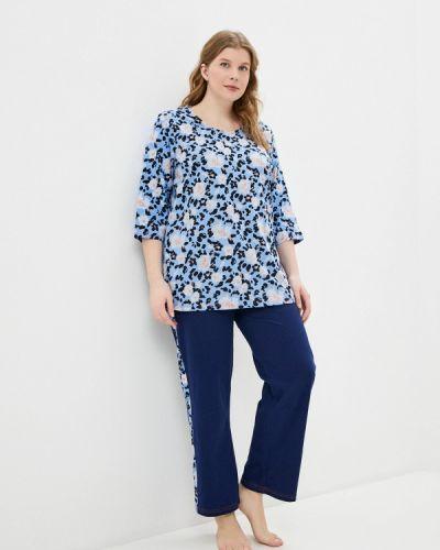 Пижамная синяя пижама Ulla Popken