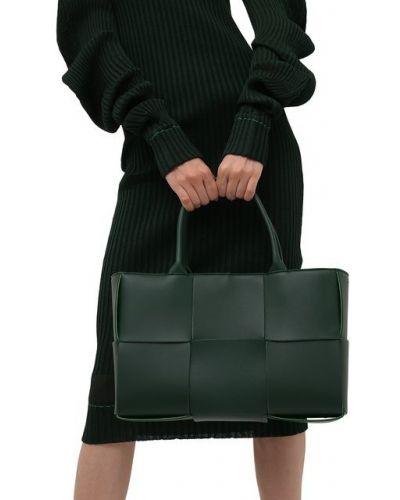 Зеленая кожаная сумка Bottega Veneta