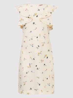 Шелковое платье миди - бежевое N°21