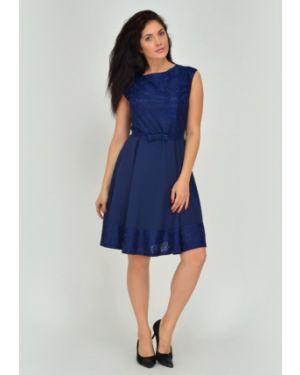 Платье с поясом с V-образным вырезом платье-сарафан Viserdi