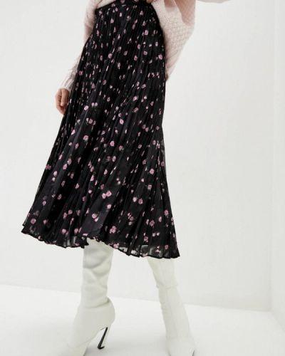 Черная плиссированная юбка Miss Sixty