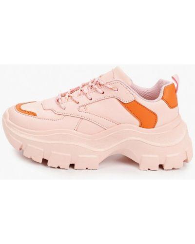 Розовые кожаные кроссовки Diora.rim