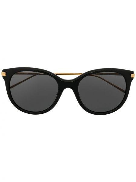Черные солнцезащитные очки металлические оверсайз Boucheron Eyewear