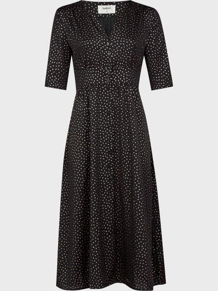 Платье на пуговицах - черное Ba&sh