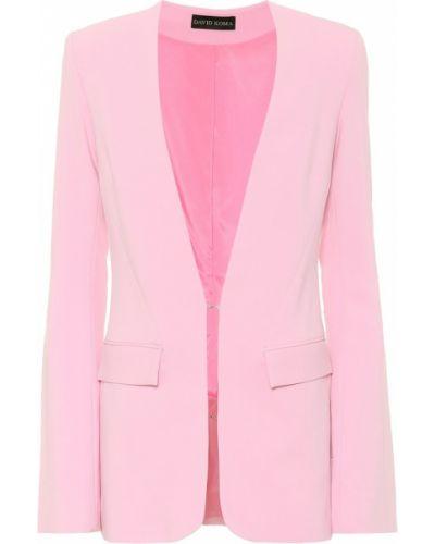 Костюмный розовый пиджак David Koma