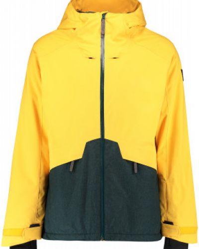 Прямая теплая желтая куртка O`neill