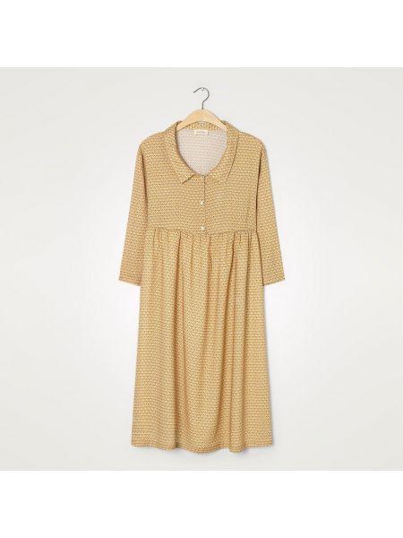 Платье миди винтажная на пуговицах La Redoute