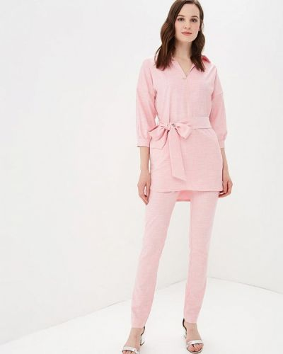 Брючный костюм розовый Bezko