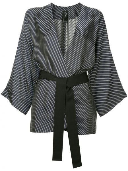 Черный пиджак из вискозы с нашивками Zero + Maria Cornejo