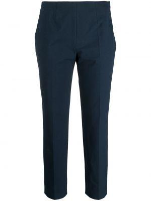 Деловые хлопковые синие укороченные брюки Piazza Sempione