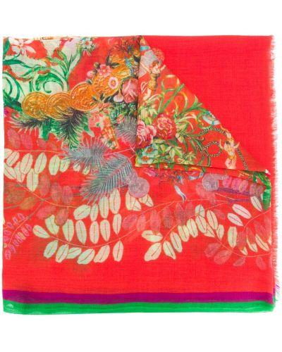 Шарф с цветочным принтом кашемировый Etro