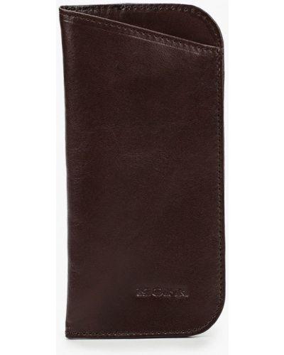 Коричневый кожаный футляр для очков Kofr