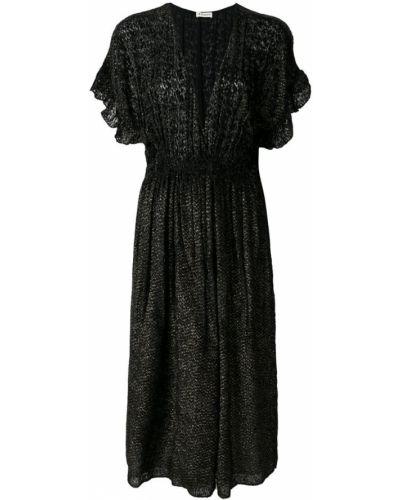 Платье с V-образным вырезом с оборками Masscob