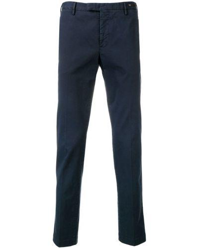 Зауженные брюки с карманами с поясом Pt01
