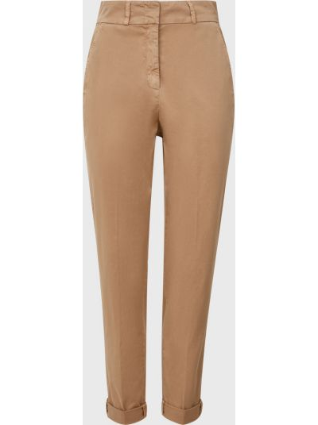 Хлопковые брюки - бежевые Cappellini