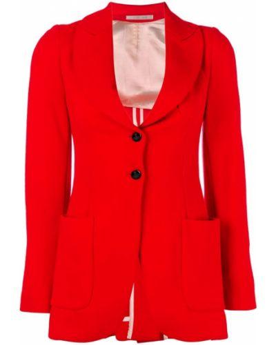 Приталенный удлиненный пиджак на пуговицах золотой Vivienne Westwood Pre-owned