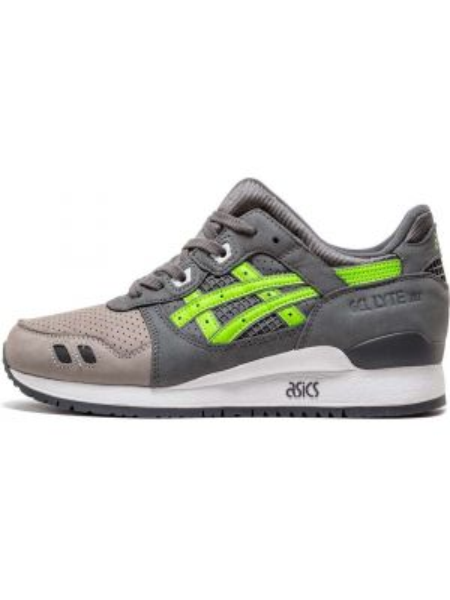 Серые кроссовки на каблуке на шнуровке на плоской подошве Asics
