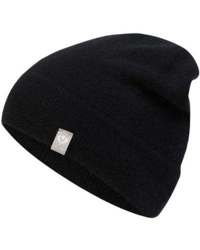 Czarna z kaszmiru czapka Fraas