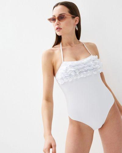 Белый слитный купальник Delice
