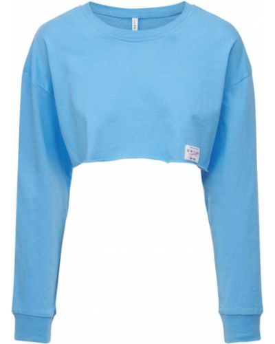 Niebieska koszulka bawełniana Adam Selman Sport