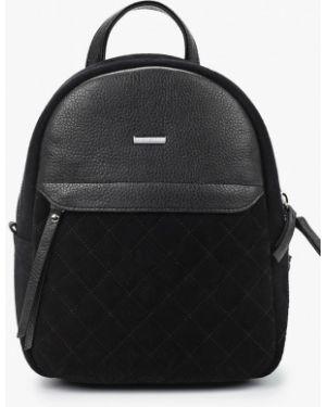 Рюкзак замшевый черный Franchesco Mariscotti