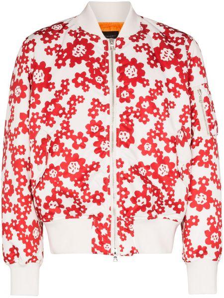 Белая куртка с манжетами на молнии с карманами Sophnet.