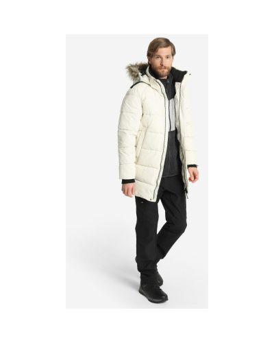 Утепленная пуховая белая куртка Icepeak