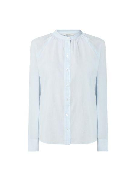Niebieska bluzka bawełniana z raglanowymi rękawami Marc O'polo