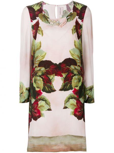 Różowa sukienka z wiskozy Antonio Marras