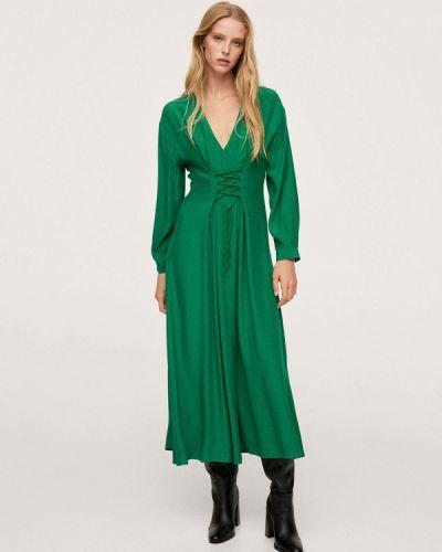 Прямое платье - зеленое Mango