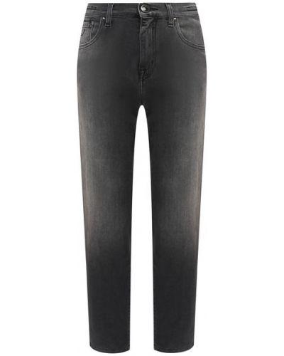 Хлопковые серые джинсы Jacob Cohen